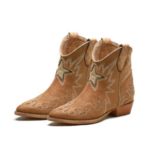 Botín cowboy estrella